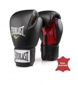 Everlast Leather boxing glove Fighter black/red