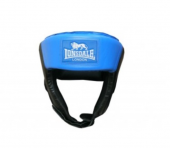Jab Open Face Headguard - Synthetic Leather black/blue