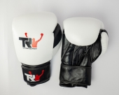 Top Rank Eq Black&White Boxing Gloves